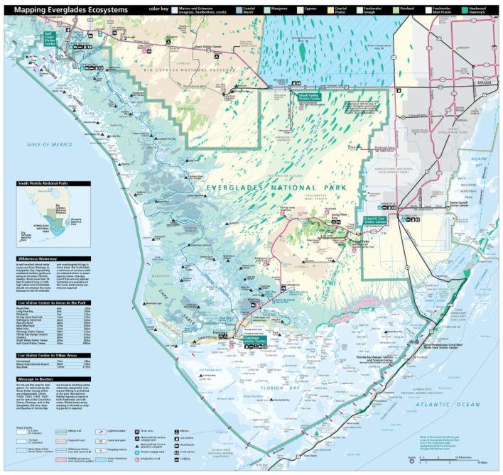 Carte des Everglades