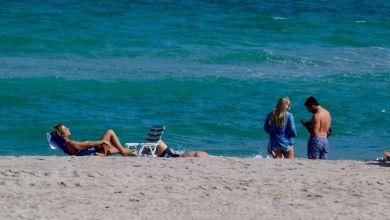 Plage de Hollywood Beach, en Floride