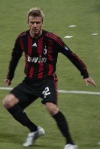 David Beckham au temps de sa splendeur.