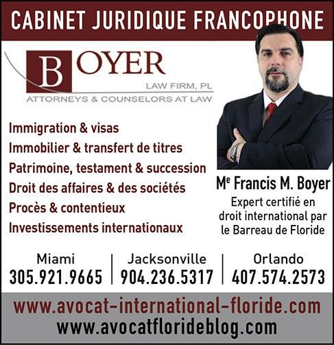 Francis boyer avocat visas immigration Floride miami orlando