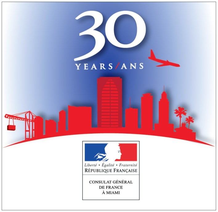Logo 30 ans Consulat France