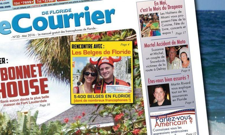 Banniere Courrier de Floride N°33 Mai 2016