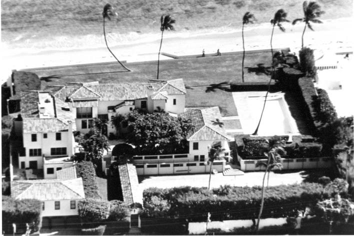 """La """"Maison Blanche d'Hiver"""". (Photo by Tracy Trumbull / Courtesy Historical Society of Palm Beach County Kennedy Family box)"""