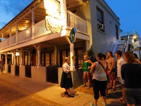 Ghost tour de St Augustine de nuit, avec Cindy !