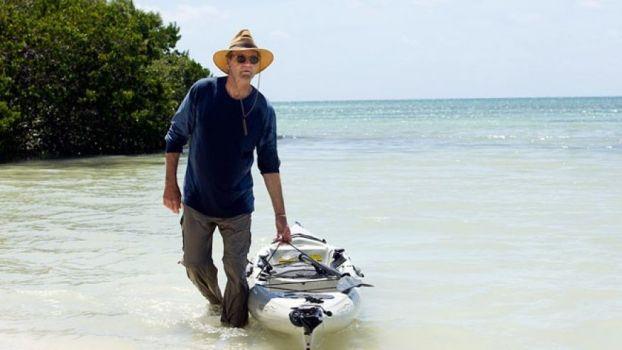Robert Rayburn sur Anne's Beach à Islamorada.