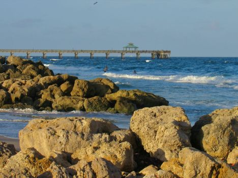 La page sud de Deerfield Beach