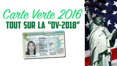 Carte verte 2016 / Green Card DV2018