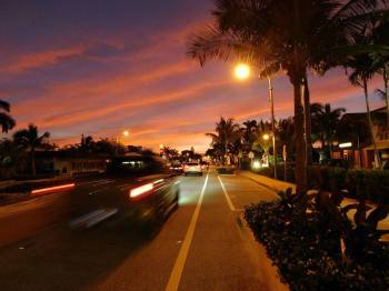 Coucher de soleil sur Lauderdale by-the-Sea