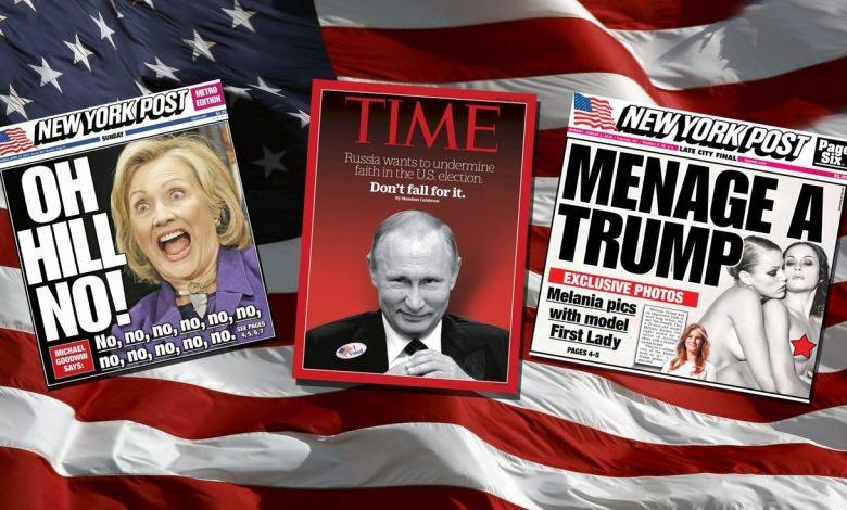 Couvertures des journaux américains durant la campagne présidentielle