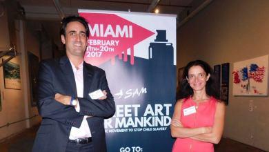 Thibault et Audrey Decker étaient invités d'honneur de la Made in France Exhibit de Miami le 2 novembre.