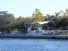 Riverwalk de Bradenton en Floride.