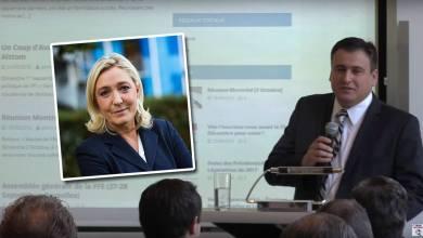 Denis Franceskin, responsable du Front National aux Etats-Unis, et soutien de Marine Le Pen pour l'élection présidentielle.