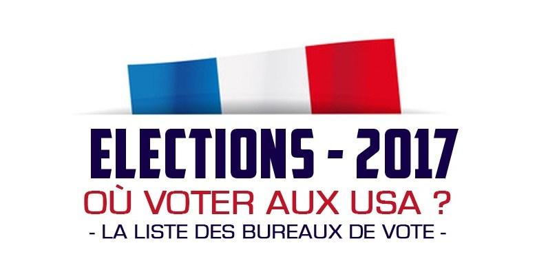 élections présidentielles françaises : la liste des bureaux de vote aux Etats-Unis / USA
