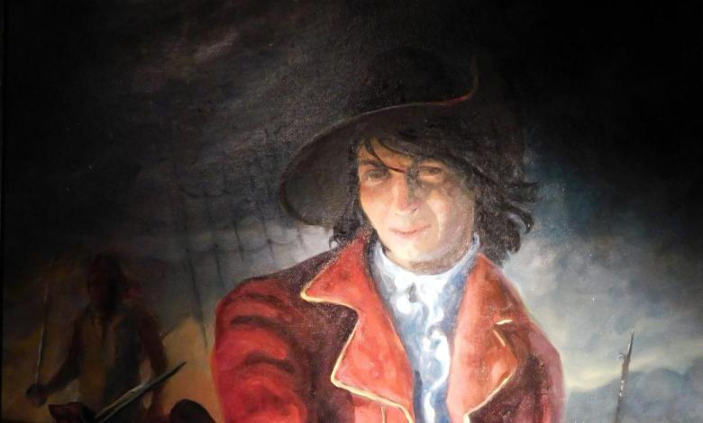 Portrait de Louis Aury au Pirate Museum de St Augustine