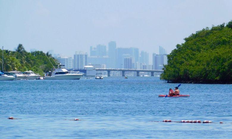 Miami vu de Miami Beach