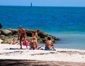 Plage de Fort Zachary Taylor à Key West
