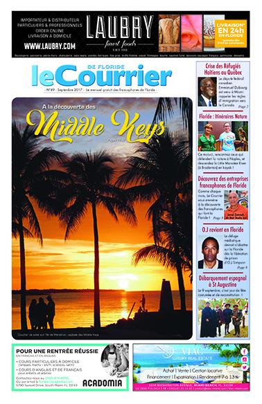 Couverture du Courrier de Floride de septembre 2017