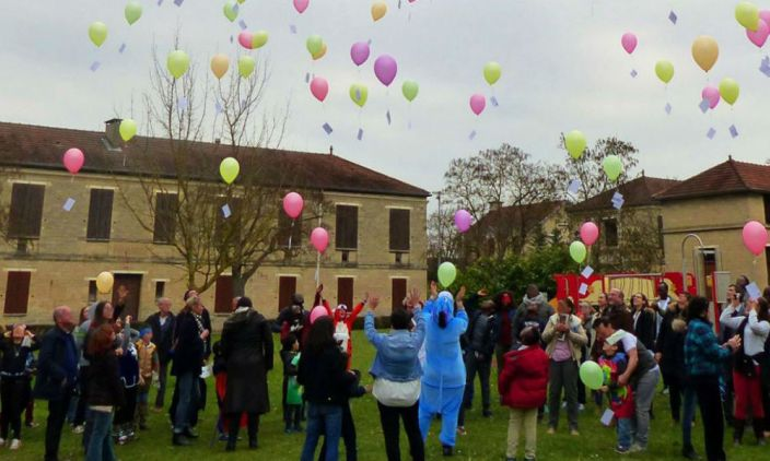 Laché de ballons en France