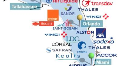 Photo of Une carte de la présence économique française dans chaque Etat des USA