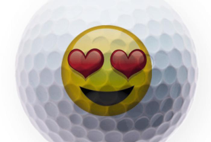 Balles de golf emoticons
