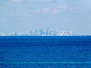 Vue de Miami depuis Biscayne National Park