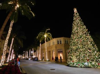 Décorations de Noël sur l'île de Palm Beach