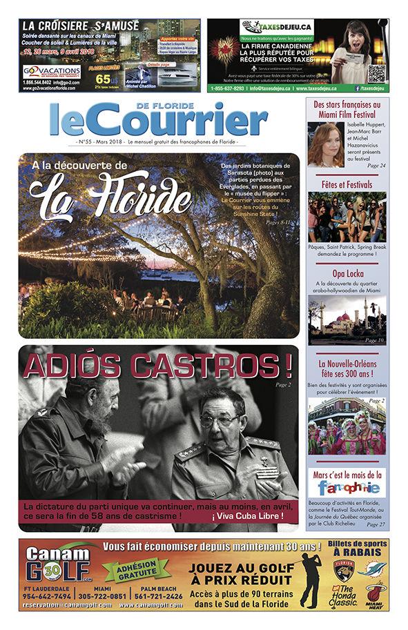 Couverture du Courrier de Floride de mars 2018