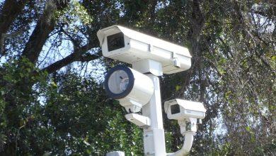 Caméra-radar sur un feu de circulation à Tallahassee, capitale de la Floride