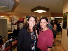 Jade Vinet et Aude Slama (CCQF) lors du cocktail de la mission commerciale Québec-Floride de Mars 2018