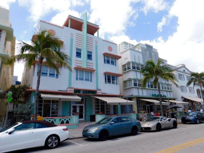 Hôtels art déco sur Ocean Drive à South Beach / Miami Beach