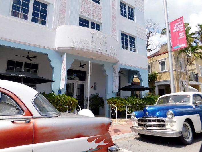The Webster, magasin de luxe et de style art déco, sur Collins Avenue à South Beach / Miami Beach
