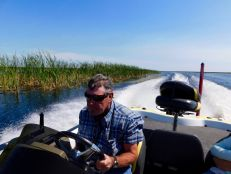 Captain Robert Power sur le Lake Okeechobee à Moore Haven en Floride