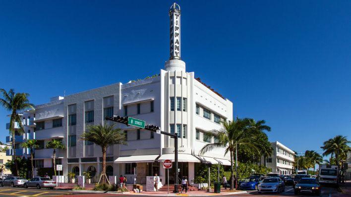 The Hotel Souch Beach : hôtel art déco près d'Ocean Drive à South Beach / Miami Beach