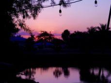 Coucher de soleil au fameux Tiki bar de Clewiston en Floride, près du Lake Okeechobee.