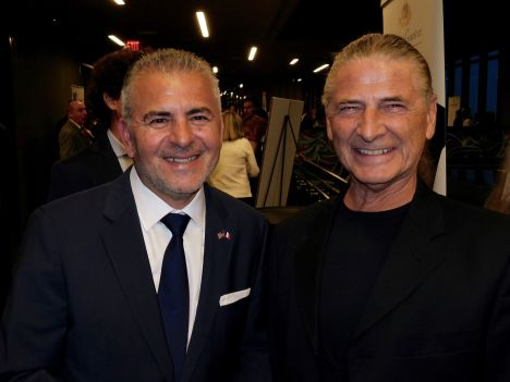 Alain Ouelhadj (pdt FACC) et Serge Massat (MCG experts comptables) au gala 2018 de la FACC Miami