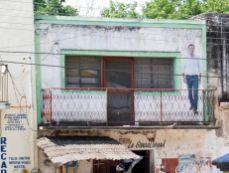 Rue typique de Chemax (dans le Yucatan au Mexique)