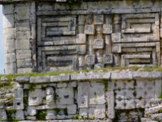 Sculptures à Chichen Itza