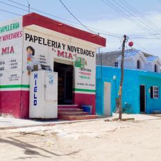 Village de Las Coloradas au Mexique
