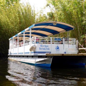 Bateau pour visiter la Loxahatchee River (Floride)