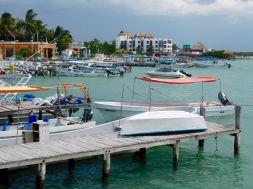 Port de pêche de de Rio Lagartos dans le Yucatan.