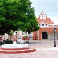 Iglesia de la Candelaria à Valladolid, dans le Yucatan (Mexique)