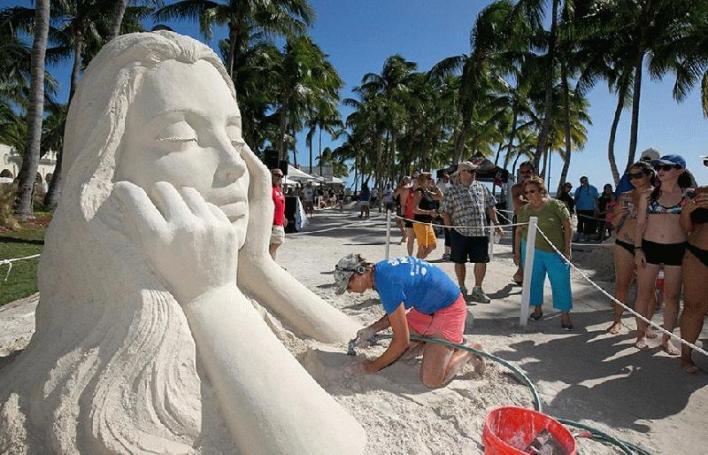Sculpture sur sable à Key West