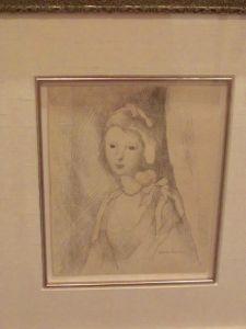 Une jeune femme, par Marie Laurencin au Boca Raton Museum of Art