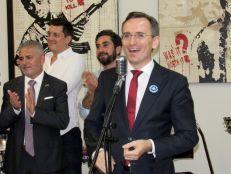 Clément Leclerc, consul de France, lors de la soirée Made in French Exhibit Miami 2018