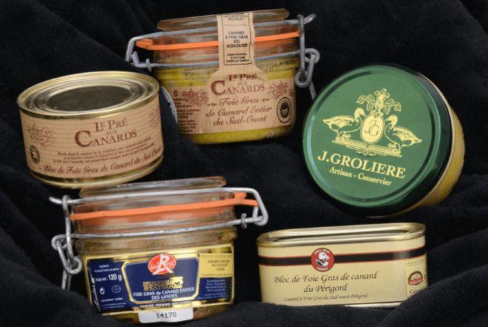 Boîtes de foie gras à importer et commander sur internet depuis les Etats-Unis