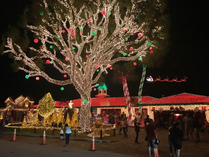 Décorations de Noël de la Macek Family à à Pompano Beach en Floride