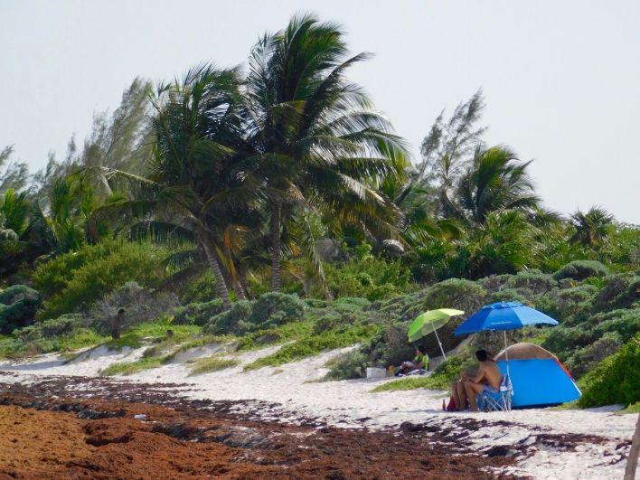 La plage de Xpu-Ha dans le Yucatan, en juillet 2018