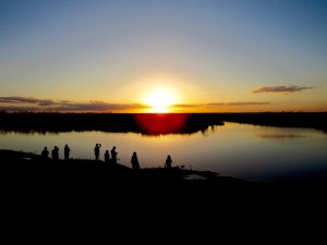 Coucher de soleil sur le Everglades au Loxahatchee National Wildlife Refuge à Boynton Beach en Floride