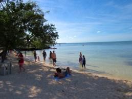 Plage de Mile Marker 88 sur l'île de Plantation Key, à Islamorada en Floride