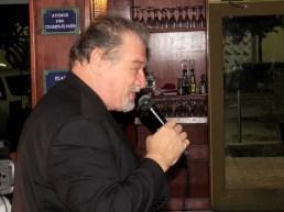 Le chanteur Rudy Morgan à la soirée des Alsaciens de Miami au Bistro 1902 de Hollywood en Floride